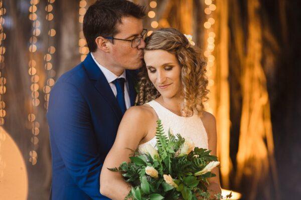 wedding, lights, fairylight, couple